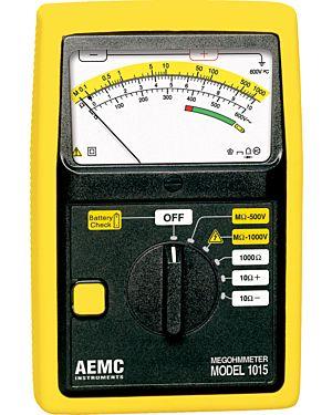 AEMC 1015: Megohmmeter Model 1015 (Analog, 500V, 1000V, Resistance, Continuity)