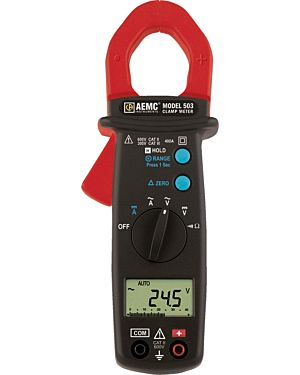 AEMC 503: Clamp-on Meter Model 503 (AC/DC, 400AAC/DC, 600VAC/DC, Ohms, Continuity)