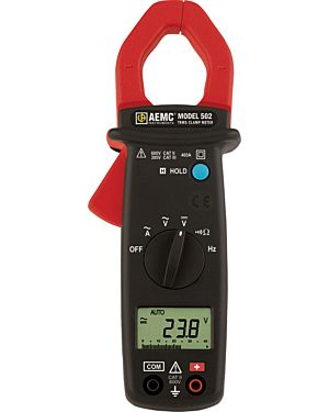 AEMC 502: Clamp-on Meter Model 502 (TRMS, 400AAC, 600VAC/DC, Ohms, Continuity)