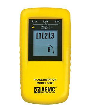 AEMC 6608: Phase Rotation Meter Model 6608