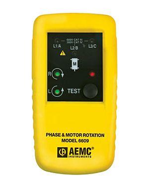 AEMC 6609: Phase & Motor Rotation Meter Model 6609