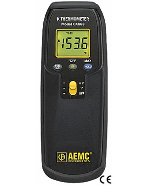 AEMC CA863: Thermometer Model CA863 (Dual K-type Thermocouple)