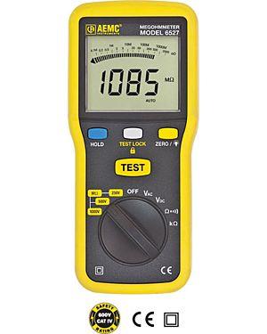AEMC 6527: Megohmmeter Model 6527 (Digital 250V, 500V, 1000V, Continuity, 400k_, V)