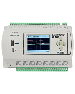 AEMC DL-1081: Data Logger Model DL-1081 (8 Analog & 8 Digital Channel, Display)