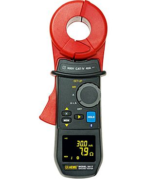 AEMC 6417: Ground Resistance Tester Model 6417 (Clamp-on, Bluetooth, Alarm, Memory, DataView Software)