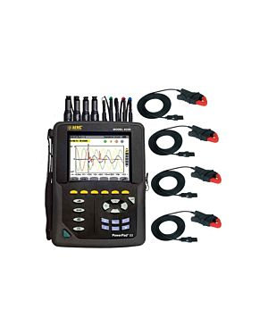 AEMC 8336: PowerPad III Thee-Phase Power Quality Meter w/ 4x193-24 Ampflex Current Probes