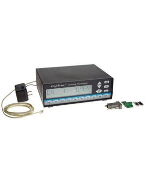 Digi-Sense 69200-00: Scanning Benchtop Thermocouple Thermometer, 12-Channel, Dual Range: -250 to 1800C/-418 to 3272F, Memory: 4680 Samples, 115V