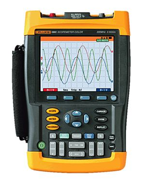 Fluke 199C: Oscilloscope; 2 Channel, 200 MHz