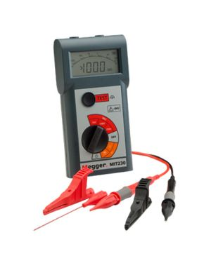 Megger MIT230-EN: 250/500/1000 V Insulation and Continuity Tester with Digital/Analog Display
