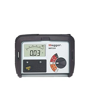 Megger MIT320-EN: 250/500/1000 V Insulation and Continuity Tester with Voltmeter Function